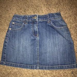 Girls Mini Boden Jean Skirt size 7-8